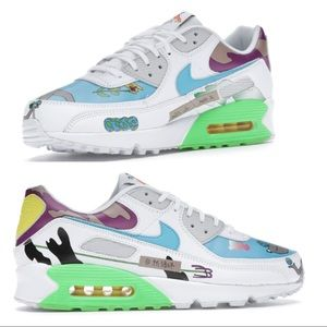 Nike Flyleather Air Max 90 Qs colorful sneaker 9.5
